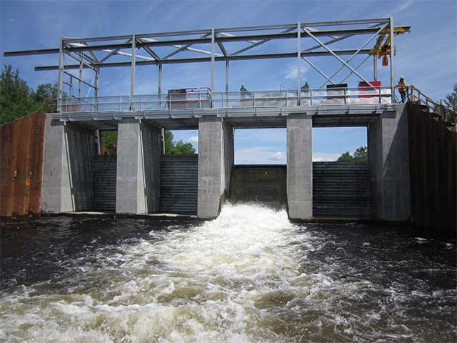 Photo d'un barrage hydroélectrique